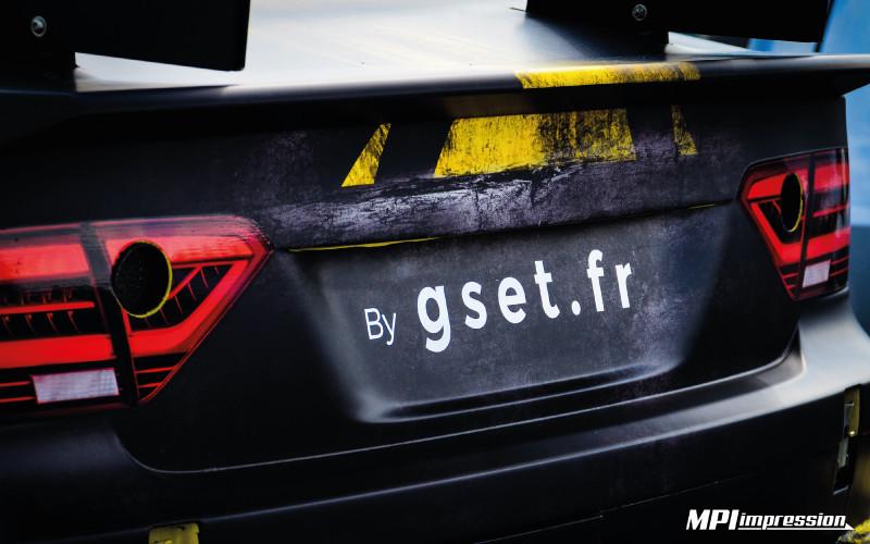 Audi Mitjet covering arriere vinyle mat