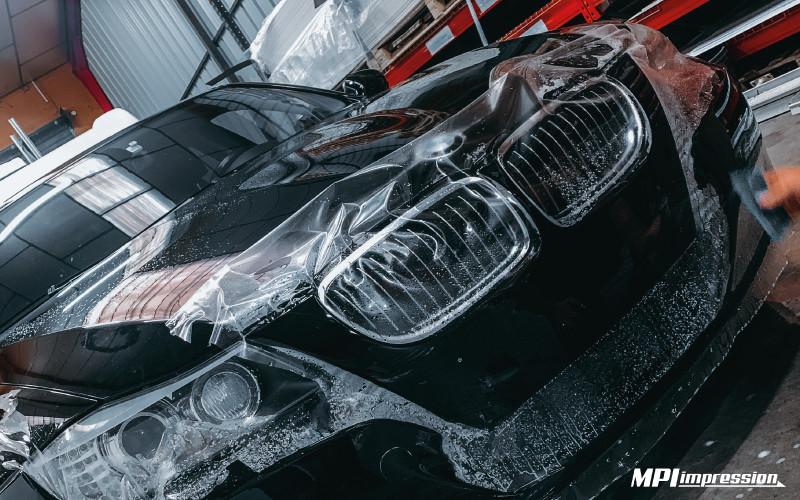 Pose d'un carprotect avant BMW Serie 3