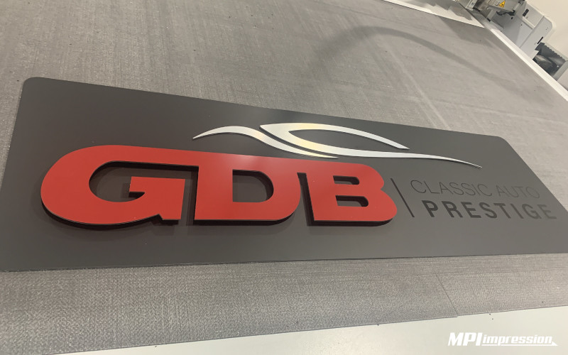 Enseigne GDB Impression Dibond Alu