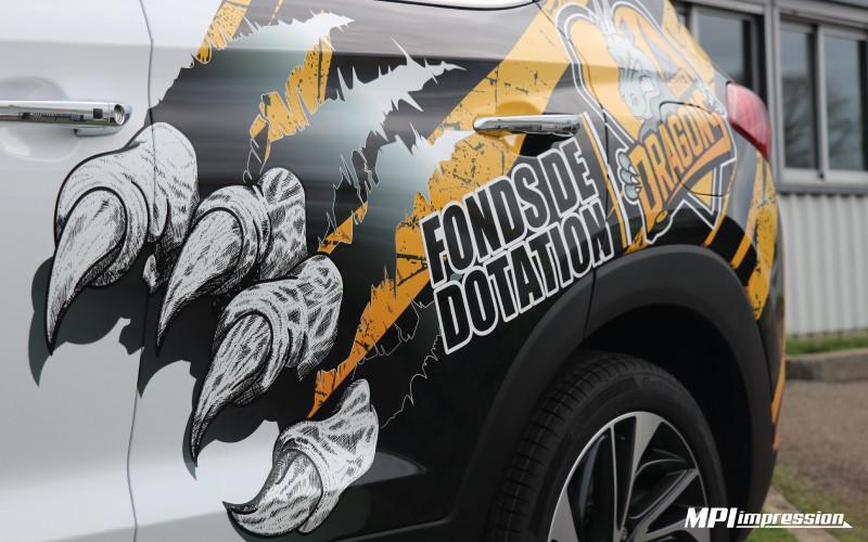 Marquage Hyundai Tucson RHE Cote Portiere