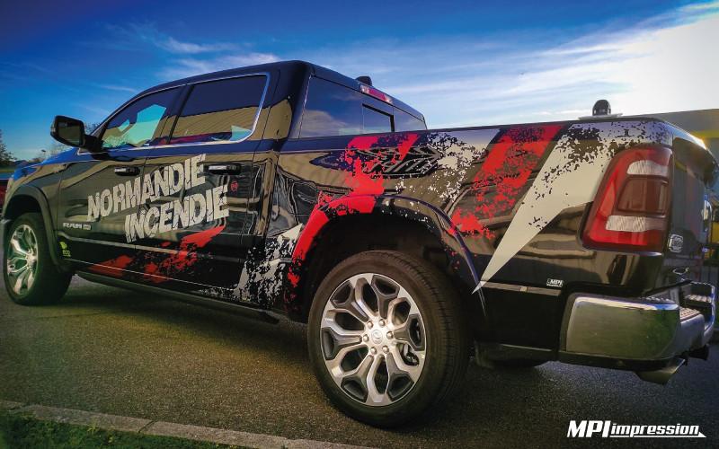 Marquage Dodge Ram Normandie Incendie