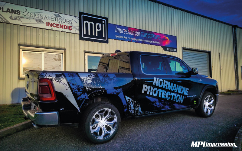 Marquage Dodge ram Normandie Protection