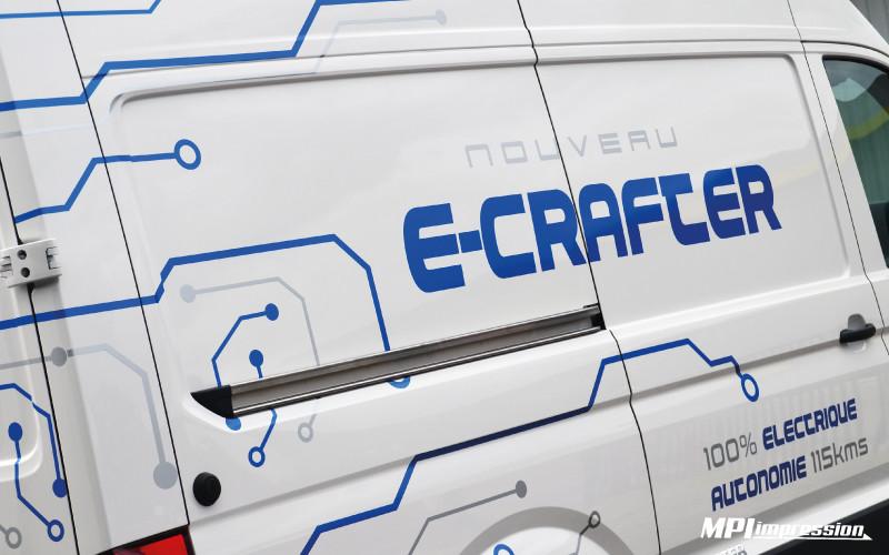 Marquage Volkswagen Ecrafter Cote