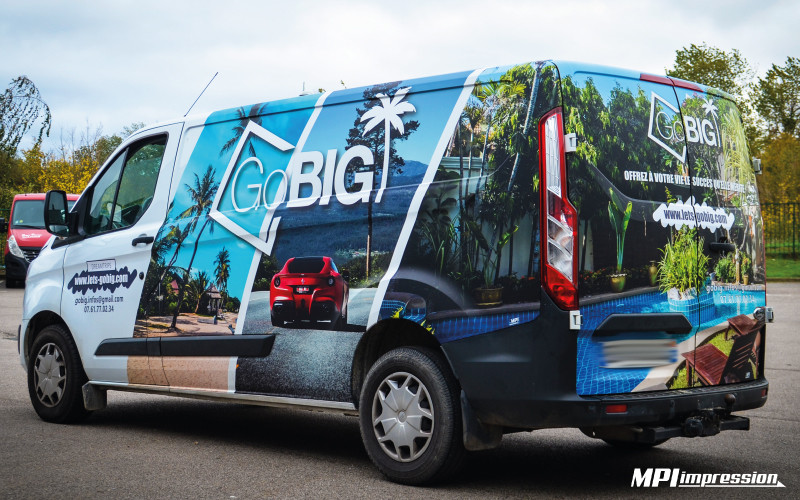 Marquage Ford Transit Go Big 3/4 arriere