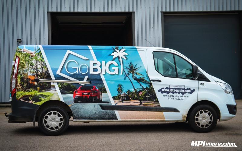 Marquage Ford Transit Go Big profil