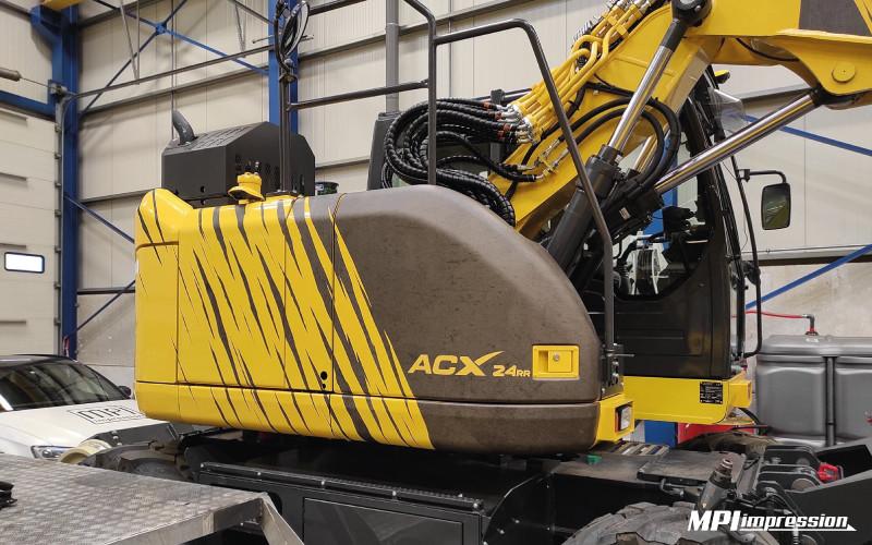 Marquage Pelle Ferroviaire ACX 24RR Atelier